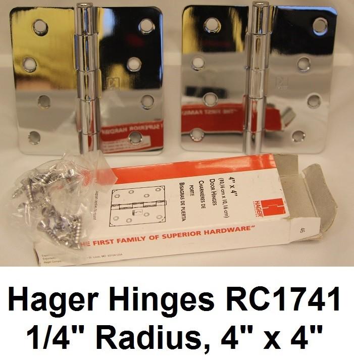 """Hager Hinges RC1741 1/4"""" Radius 4"""" x 4"""""""