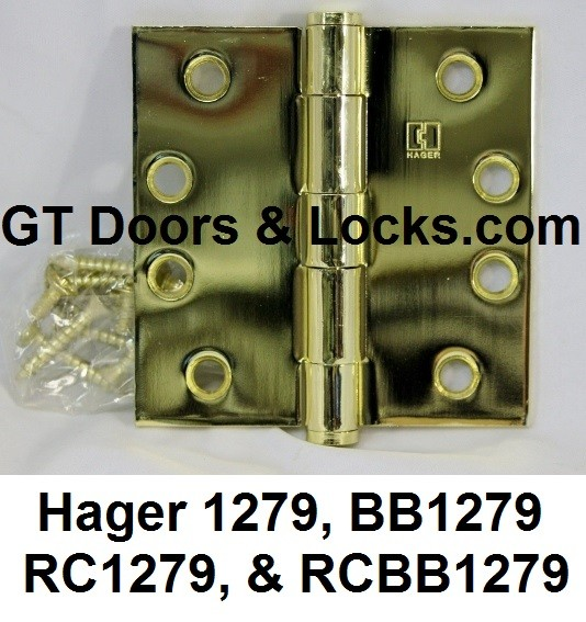 Hager Hinges BB1279, 1279, RC1279, RCBB1279 & BB1279