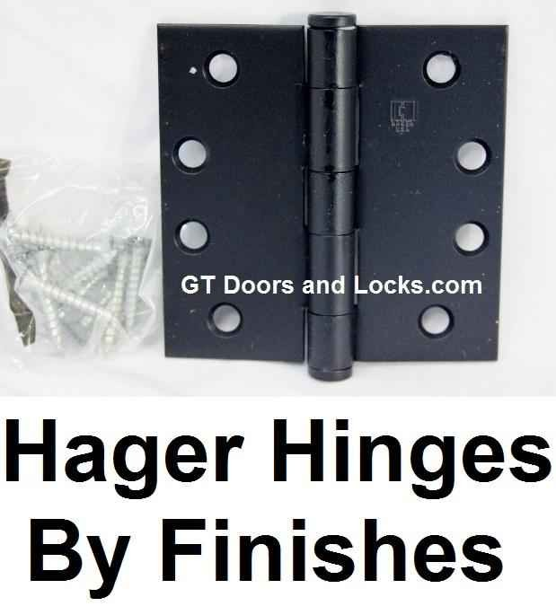 Hager Hinges By Finishes