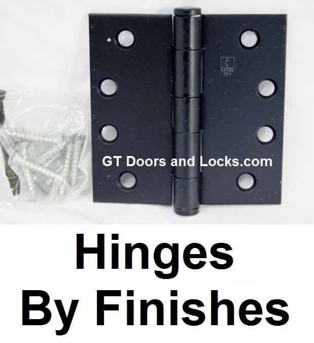 Hinges By Finish