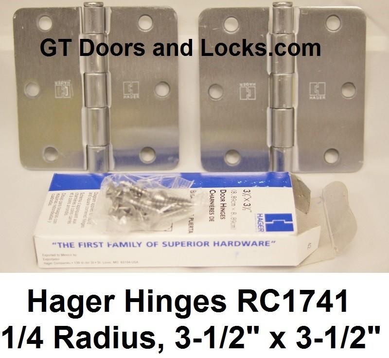 """Hager Hinges RC1741 1/4"""" Radius 3-1/2"""" x 3-1/2"""""""