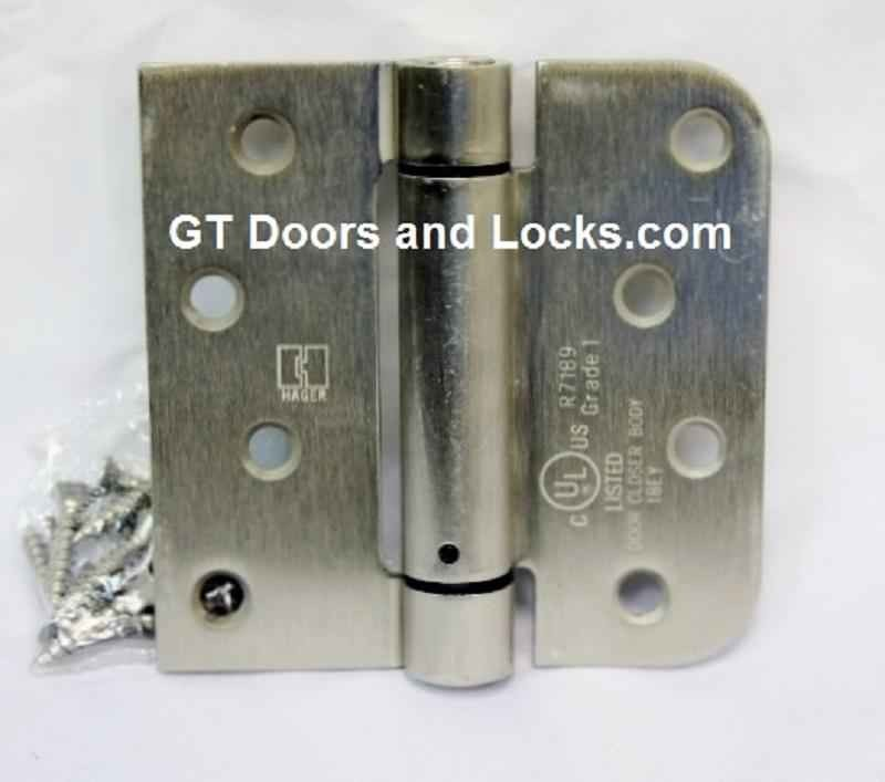 Hager Hinges 1754 5/8  Radius Corner x Square Corner -Spring Loaded Self : door closer hinge - pezcame.com