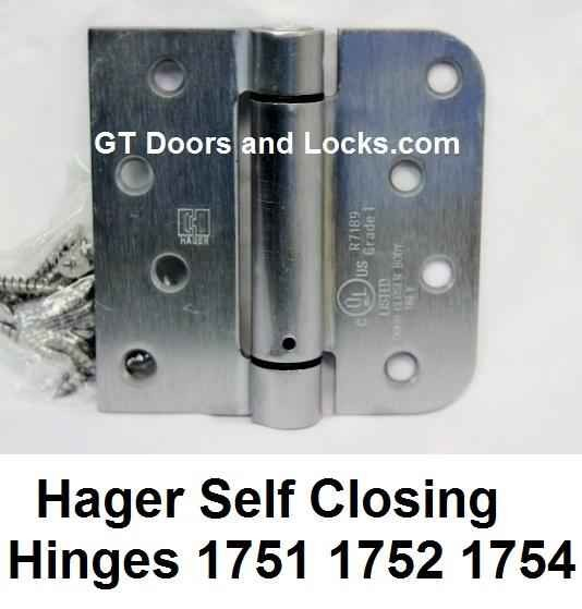 Hager Hinges Spring Loaded Self Closing Hinge R7189 & 426R --- R 7189 & 426 R Door Closer Body