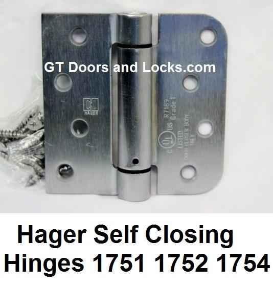 Hager Hinges Spring Loaded Self Closing Hinge R7189 & 426R --- R 7189 & 426 R Door Closer Body