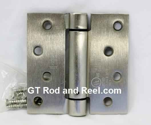 "Hager Hinges 1760 Square Corner US32d Brushed Solid Stainless Steel 4"" x 4"" 426r r7189 Self Closing Hinge"
