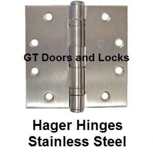 Hager Solid Stainless Steel Hinges