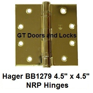 "Hager BB1279 ***** 4.5"" x 4.5"" NRP Hinges"