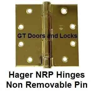 Hager Hinges Non-Removable Pin Hinges NRP
