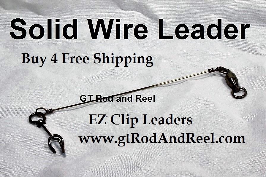 100 LB EZ Clip Solid Wire Leader