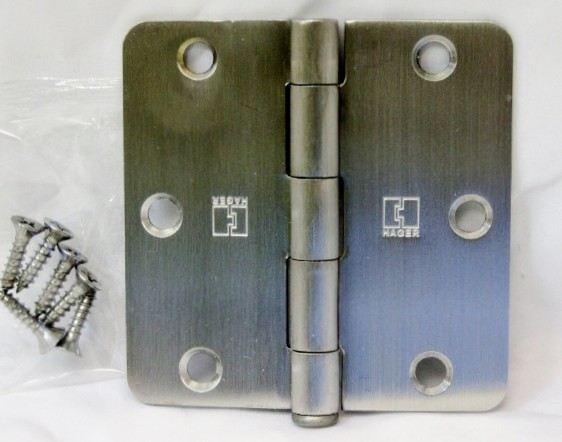 "Hager RC1541 US32d 1/4"" Radius Stainless Steel Hinges"