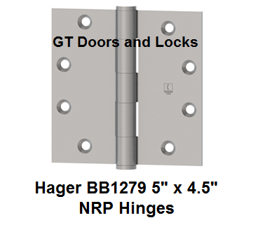 "Hager BB1279 ***** 5"" x 4.5"" NRP Hinges"