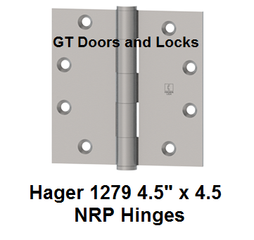 "Hager 1279 ******* 4.5"" x 4.5"" NRP Hinges"