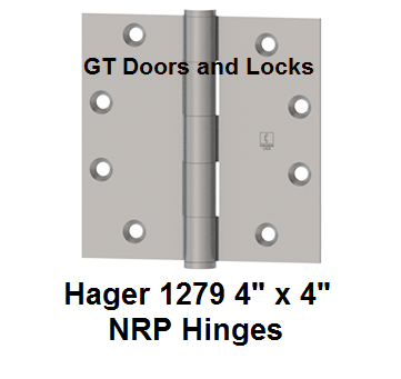 "Hager 1279 ******* 4"" x 4"" NRP Hinges"