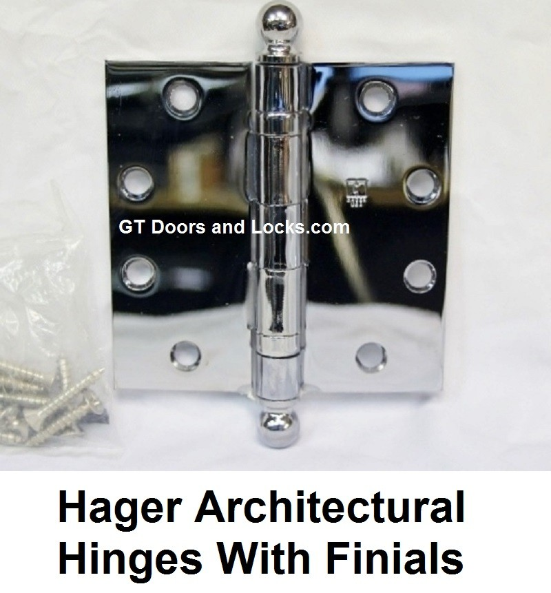 Hager Architectural Hinges with Finials