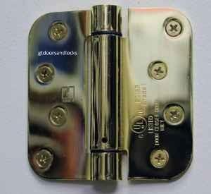 "Hager Hinges 1752 5/8"" Radius 4"" x 4"" Spring Loaded Self Closing Hinge --------------------------------                                      R7189 & 426R --- R 7189 & 426 R Door Closer Body"