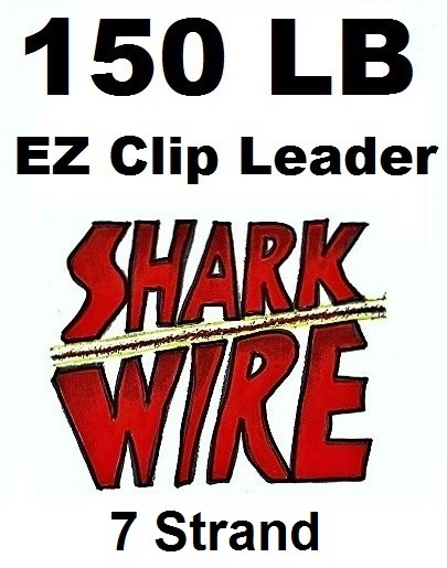 150 LB EZ Clip Shark Wire Leader 7 Strand Nylon Coated Wire