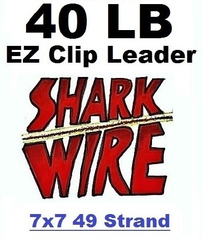 40 LB EZ Clip Shark Wire Leader 7x7 49 Strand Nylon Coated Wire
