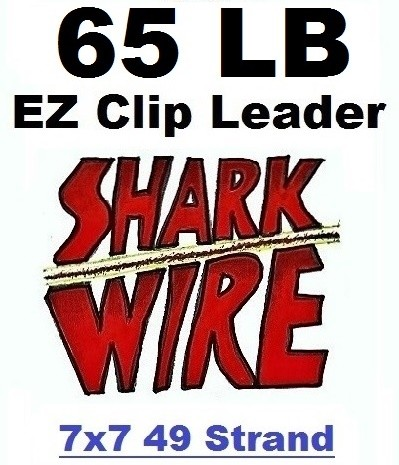 65 LB EZ Clip Shark Wire Leader 7x7 49 Strand Nylon Coated Wire