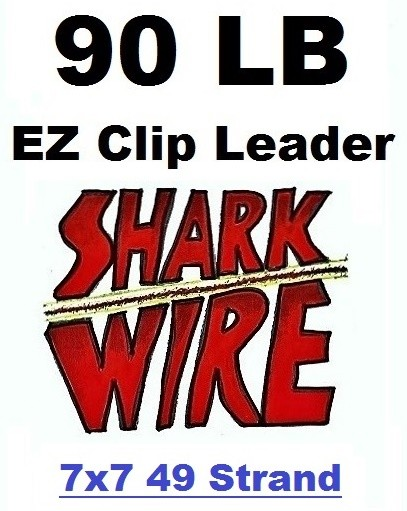 90 LB EZ Clip Shark Wire Leader 7x7 49 Strand Nylon Coated Wire