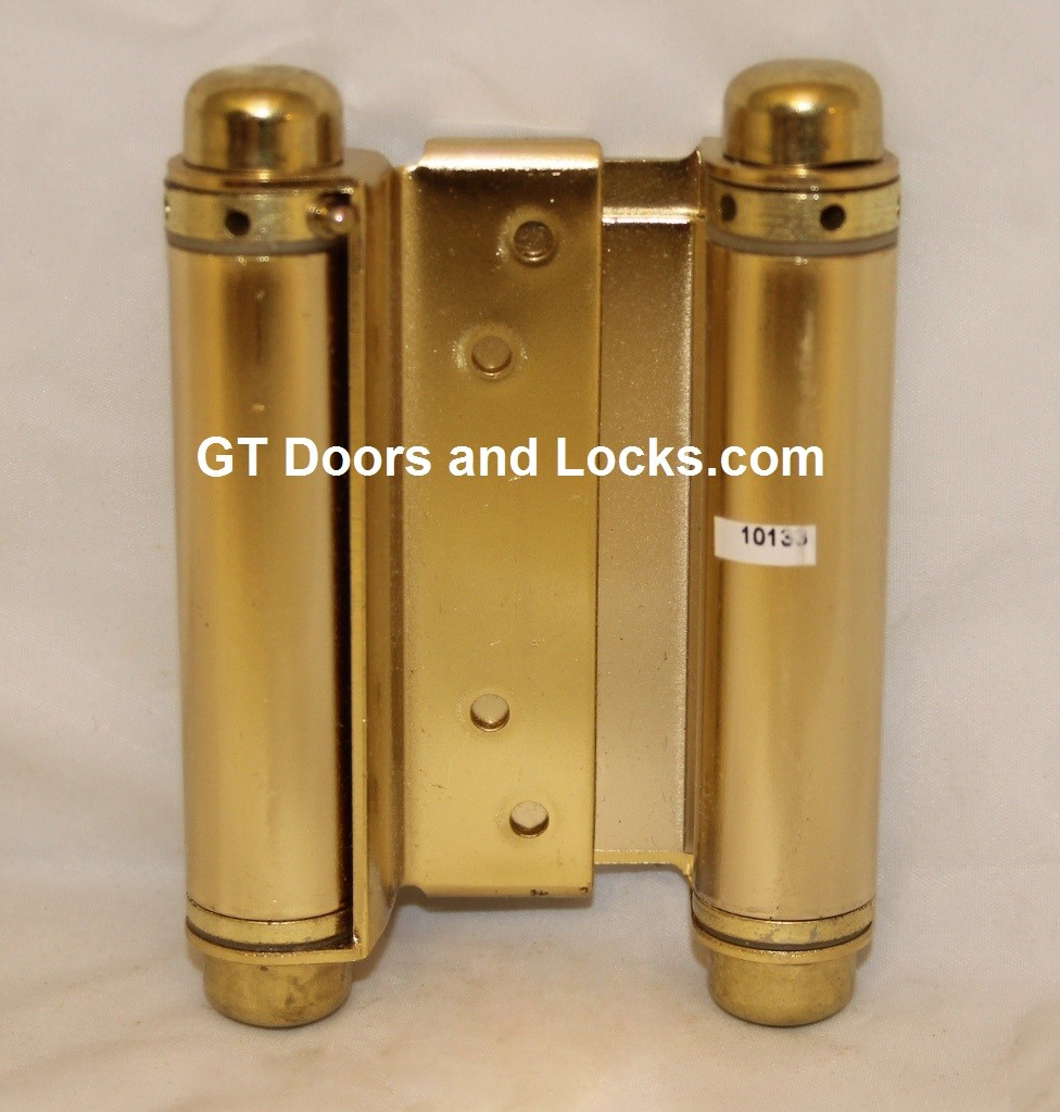 """Hager 1303 4in Double Acting Spring Cafe Hinge-Steel Base 7/8"""" to 1-1/4"""" Thick Door"""