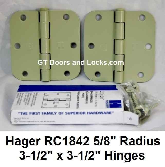 "Hager Hinge RC1842 5/8"" Radius 3-1/2"" x 3-1/2"""
