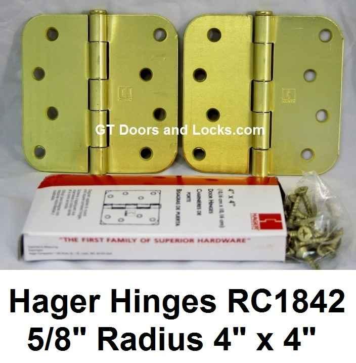"""Hager Hinges RC1842 5/8"""" Radius 4"""" x 4"""""""