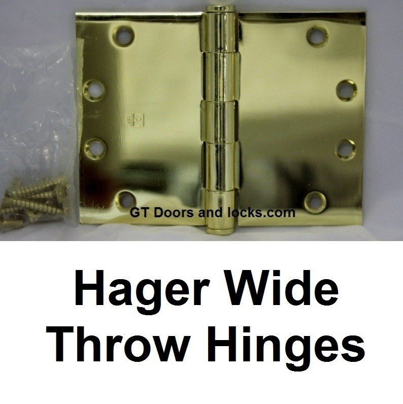 Hager Wide Throw Hinges