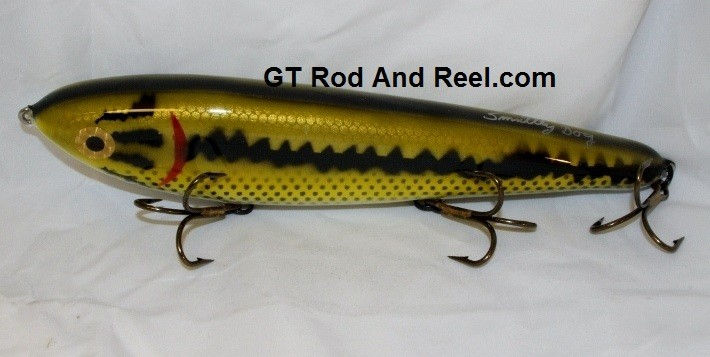 """Smuttly Dog Baits Lures 10"""" Drop Belly 10DB Musky Glide Bait  Color: Large Mouth Bass"""