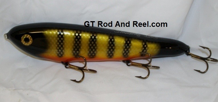 """Smuttly Dog Baits Lures 10"""" Drop Belly 10DB Musky Glide Bait  Color: Okoboji Perch"""