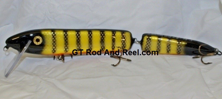 """Smuttly Dog Baits 15"""" Jointed Troller/Crankbait Color Okoboji Perch"""