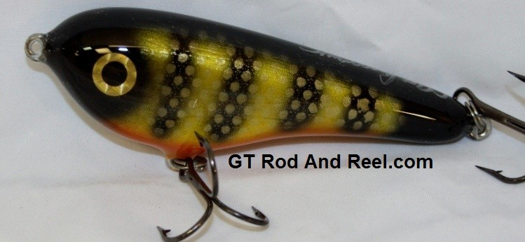 """Smuttly Dog Baits Lures 5"""" Drop Belly, Color; Okoboji Perch"""