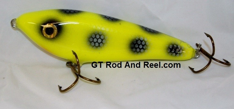 """Smuttly Dog Baits Lures 6"""" Drop Belly, Color; Chartreuse Bandit"""