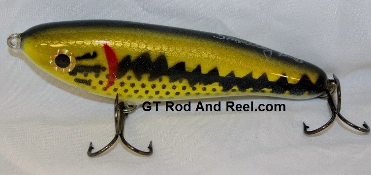 """Smuttly Dog Baits Lures Petite 6"""",  Color; Large Mouth Bass"""