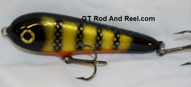 """Smuttly Dog Baits Lures 5"""" Stubby C, Color; Okoboji Perch"""