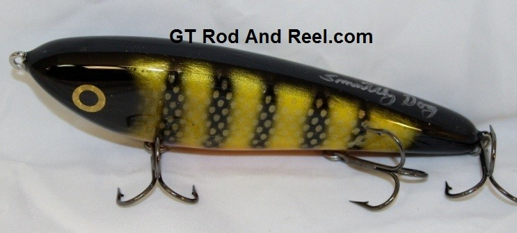 """Smuttly Dog Baits Lures 7"""" Drop Belly, Color; Okoboji Perch"""