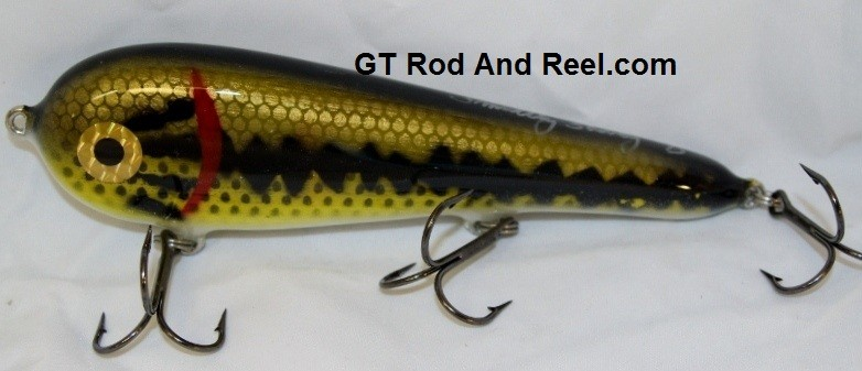 """Smuttly Dog Baits Lures 7"""" Stubby D, Color; Large Mouth Bass"""