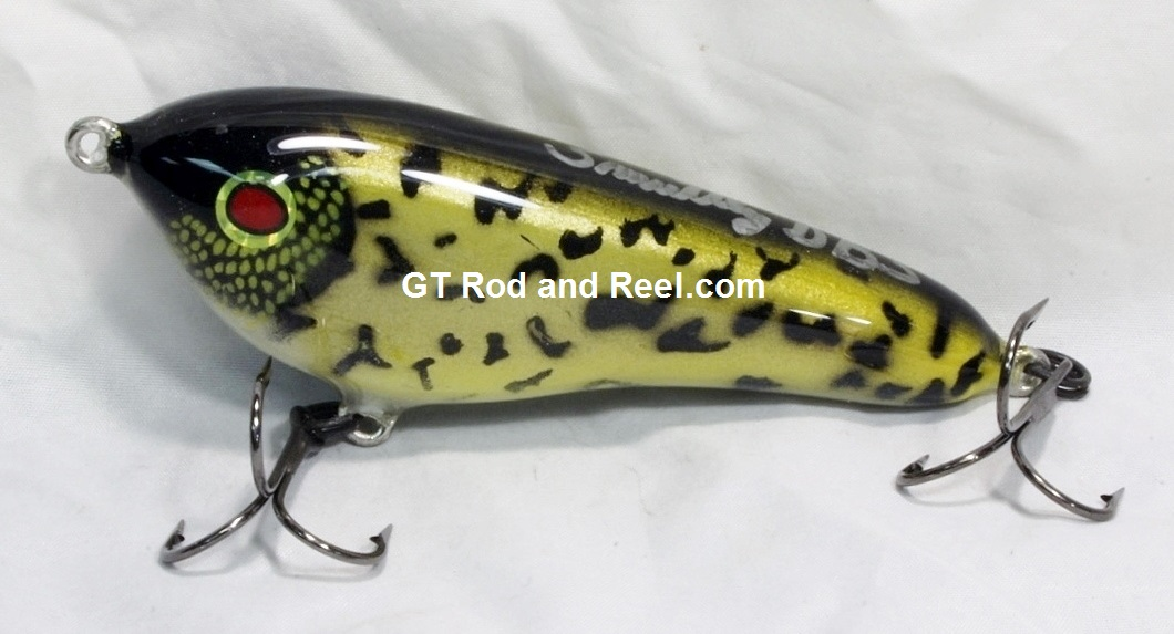 """Smuttly Dog Baits Lures 5"""" Drop Belly, Color;  Black Crappie"""
