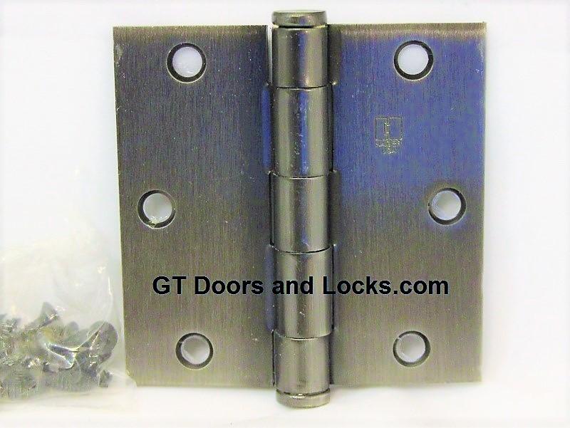 "Hager 1279 Hinge 1 Each 3-1/2"" x 3-1/2"" Square Corner US15A Antique Nickel"
