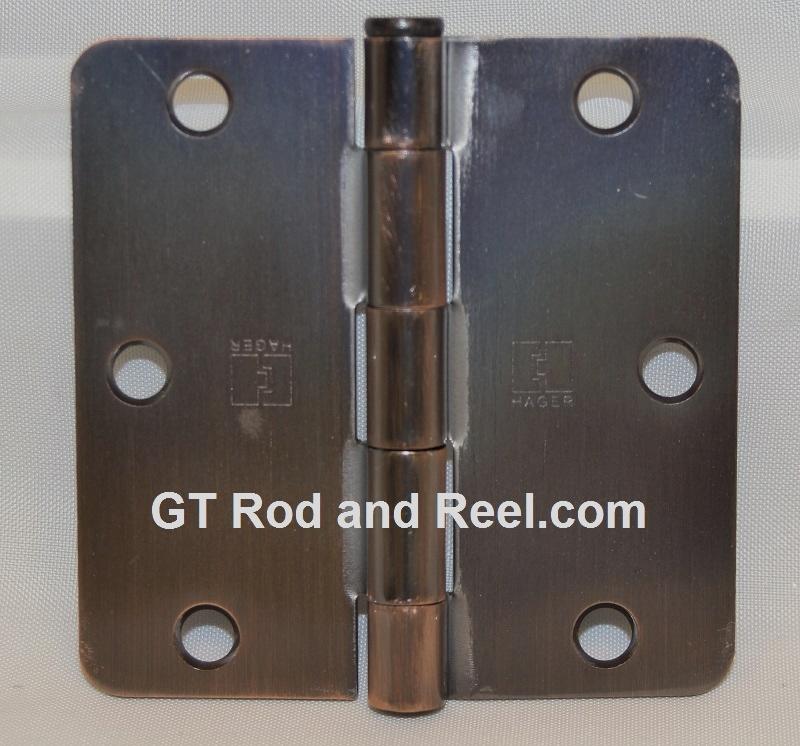 """Hager Hinges RC1741 3.5"""" x 3.5"""" us10a Antique Bronze 1/4"""" Radius Hinge"""