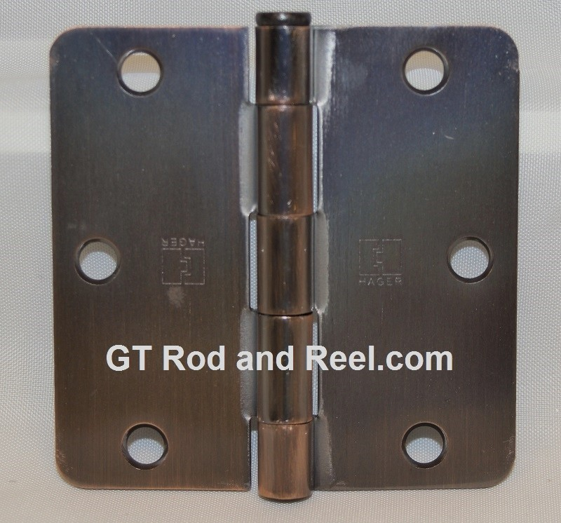 "Hager RC1279 Hinge 1 Each 3-1/2"" x 3-1/2"" 1/4"" Radius Hinges  US10b Oil Rubbed Bronze"