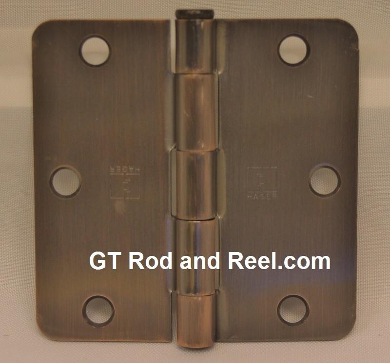 """Hager RC1279 Hinge 1 Each 3-1/2"""" x 3-1/2"""" 1/4"""" Radius Hinges US10a Antique Bronze"""