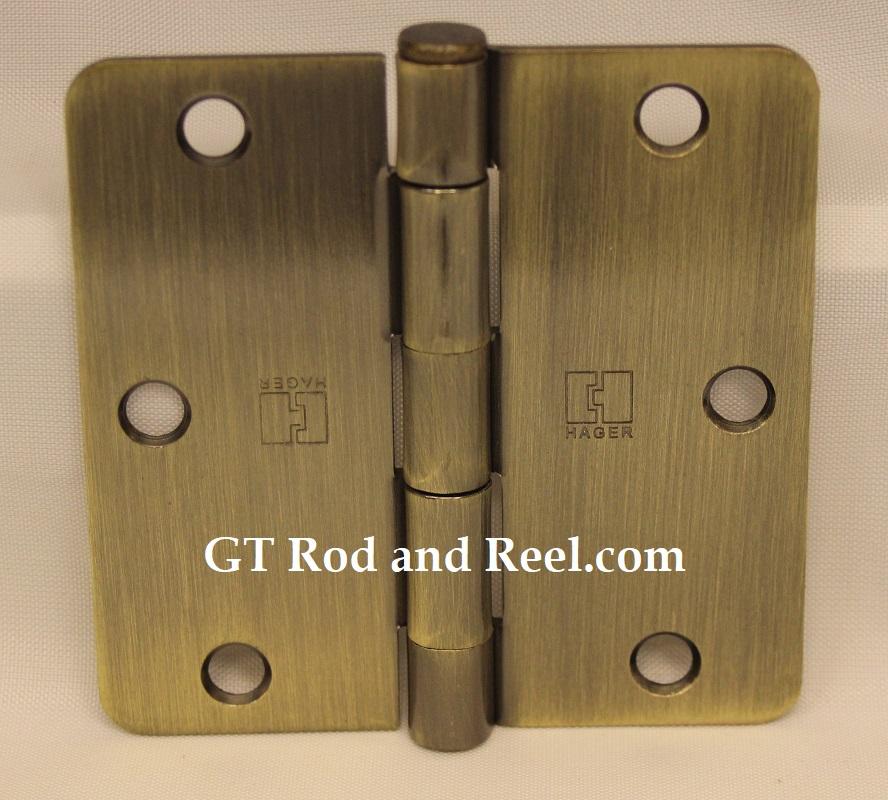 """Hager Hinges RC1741 3.5"""" x 3.5"""" us5 Antique Brass 1/4' Radius Hinge"""