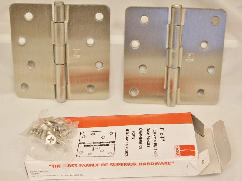 "Hager Hinges RC1741 NRP 4"" x 4"" US15 Satin Nickel"