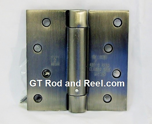 "Hager Hinges 1750 Square Corner 4"" x 4"" 426r r7189 Self Closing Hinge us5 ABA Antique Brass"