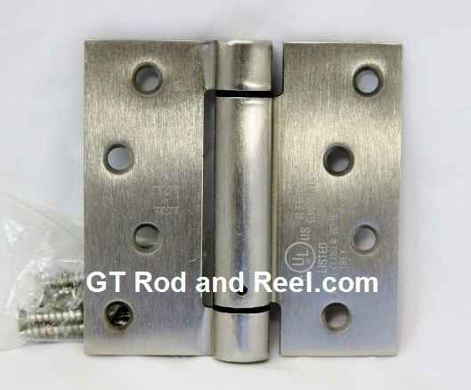"""Hager Hinges 1760 Square Corner US32d Brushed Solid Stainless Steel 4"""" x 4"""" 426r r7189 Self Closing Hinge"""