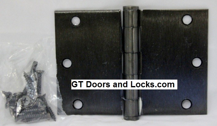 """Hager WT1279 Hinge 1 Each 3-1/2"""" x 5"""" Square Corner US10D Black Bronze Oiled Hager Wide Throw Hinges"""