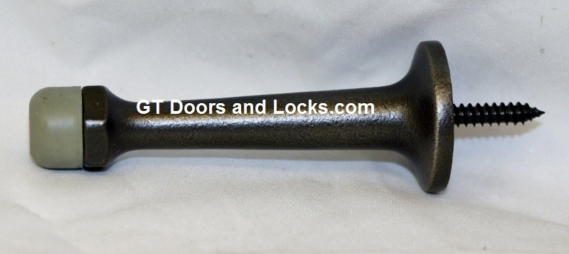 """Distressed Oil Rubbed Bronze 3"""" Solid Stop"""