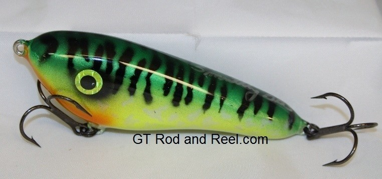 """Smuttly Dog Baits Lures 5"""" Drop Belly, Color; Glowing Green Tiger"""