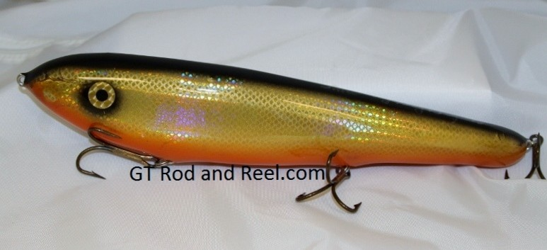 "Smuttly Dog Baits Lures 12"" Big ""N""  Musky Glide Bait  Color: Flashing Bronze Shiner"