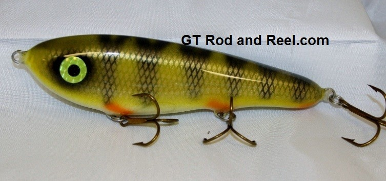 """Smuttly Dog Baits Lures 7"""" Drop Belly, Color; Olive Perch"""